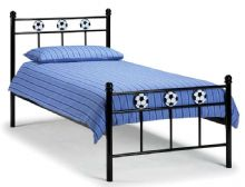 Ajax Black & White Football Single Bed